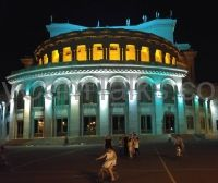 Yerevan Opera building at night